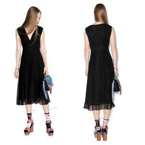 New & Other Stories Midi Dress Black Silk New